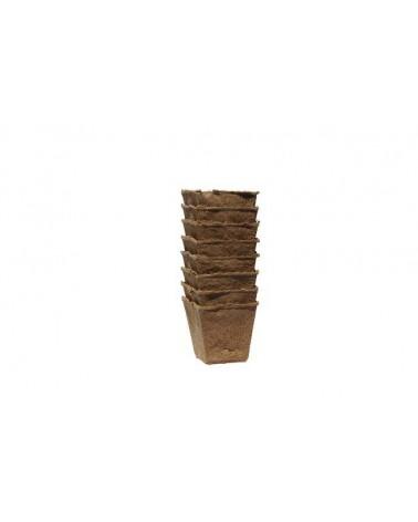 Pot biodégradables carré 8cm