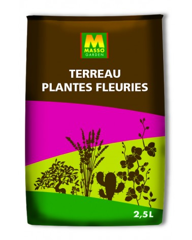 terreau plantes fleuries