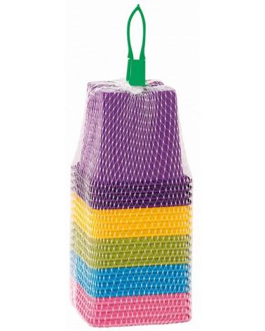 Godets plastiques de couleur
